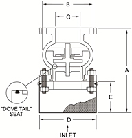 Cast Iron Foot Valve - Dimensions