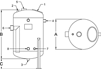Blowdown Tank - BDT Series - Dimensions