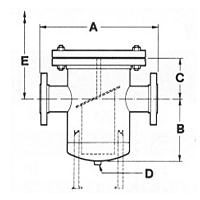 Fabricated Basket Strainer - Dimensions