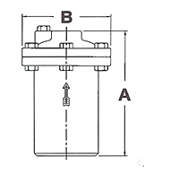 Inverted Bucket Steam Trap - CB2 Series - Dimensions