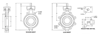 High Performance Butterfly Valve - Dimensions