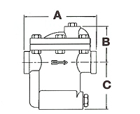 Inverted Bucket Steam Trap - Dimensions