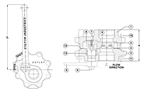 Quick Opening Blowdown Ball Valve - Dimensions