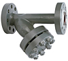 "Flanged ""Y"" Strainer Steel/Stainless Steel - 1500YF Series - Carbon Steel"